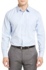 Wrinkle Free Pinpoint Cotton Dress Shirt