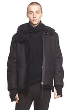 Genuine Shearling Bomber Jacket