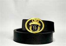 B-Dull Gold  Buckle Imported Belt